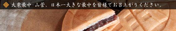 日本一大きな最中を皆様でお召上がりください。